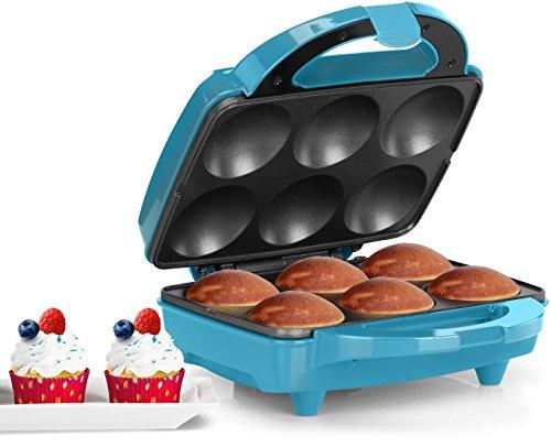 Holstein Housewares HF-09013T Full Size Fun Cupcake Maker Makes 6 TealStainless Steel