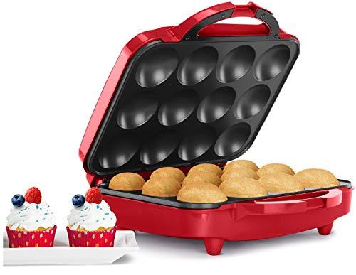 Holstein Housewares HU-09006R Cupcake Maker Red Renewed