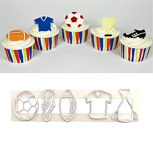 Fiesta Football Shaped Plastic Cake Mold Chocolate Biscuit Tools Fondant Cake Decoration Mold Sugar Baking Tool