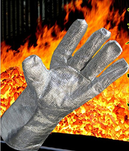 High Temp 1000°C Heat Resistant Aluminized Safety Welding Work Gloves 38cm  1496 Oven Mitt