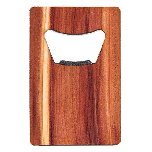 WOODCHUCK USA Wooden Credit Card Bottle Opener - Cedar Mahogany Walnut - 100 Premium Wood Cedar