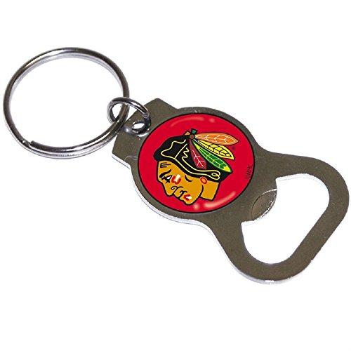 Blackhawks Team Logo Bottle Opener Key Ring