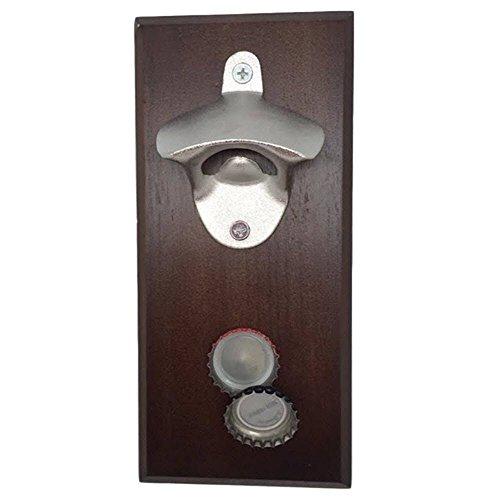 YaeKoo Magnetic Bottle Opener - Cap Catcher Wall-Mounted Refrigerator Magnet