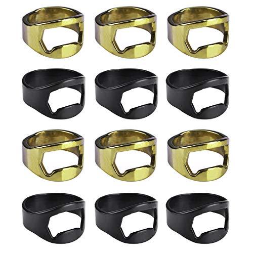 Aspire 100 PCS Finger Ring Bottle Openers Stainless Steel Beer Opener Bartender Tool Wedding Favors-Assorted