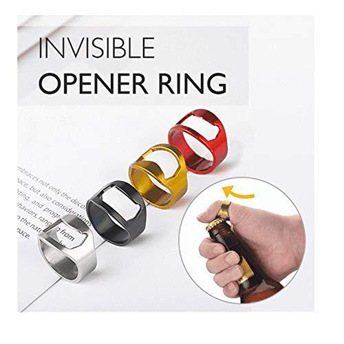 chenJBO AD-002 Stainless Steel Finger Ring Bottle Opener Beer Bottle Opener Cool Invisible Ring Men Tool