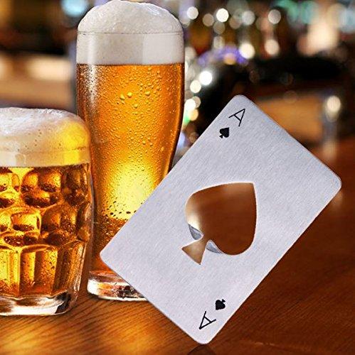 Creative Poker Card Shaped Bottle Opener Stainless Steel Beer Wine Soda Opener Bar Kitchen Tool