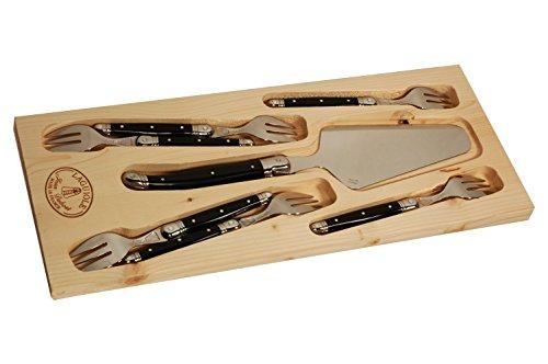 Jean Dubost Laguiole 7-Piece Cake Knife Set Ivory