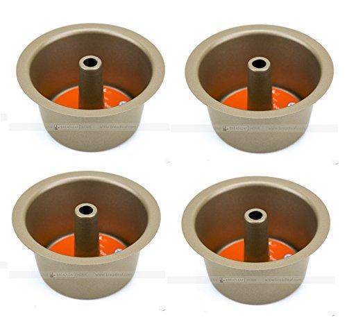 Astra Gourmet Set of 4 Mini Angel Food Bundt Cake Pan Kitchen Baking Bake Pan