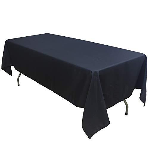 KAITATSU SEN Rectangular Polyester Fabric Tablecloth Black 60x102-inch