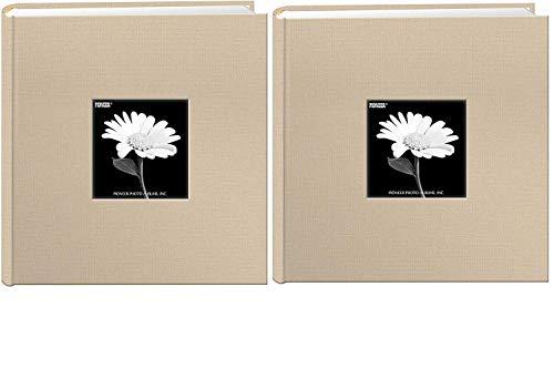 Pioneer Pocket Fabric Frame Cover Photo Album Biscotti BeigeBundle