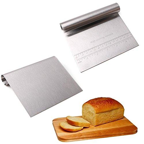 Artlalic Stainless Steel Pizza Dough Scraper Cutter Baking Pastry Spatulas Fondant Cake Decoration Tools Kitchen Accessories