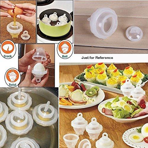 7pcsSet Hard Boil Eggs Cooker Without Shells  Egg Separator Kitchen Accessories Cooking Tools Acessorios De Cozinha
