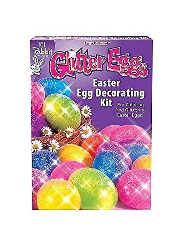 Fun World BB1754C Glitter Eggs Easter Egg Decorating Kit -Each
