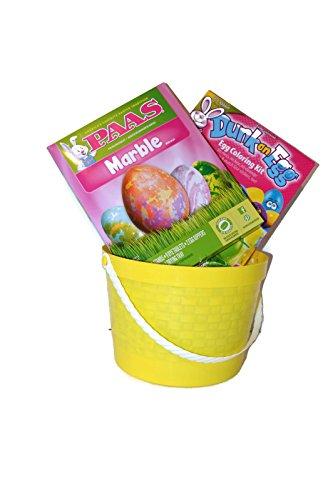 Marble Dunk An Egg Easter Egg Decorating Kit Bundle – 4 Items 2 Egg Coloring Kits 1 Basket 1 Grass Packet