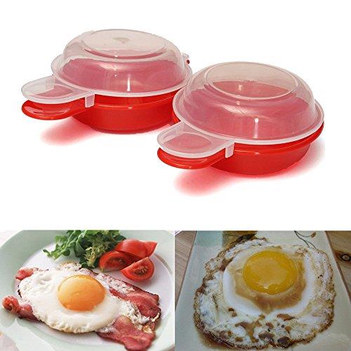 Home Kitchen 2 Pcs Microwave Egg Omelet Bowl Maker Omelette Cooker Cookware Cooks Fast Minutes