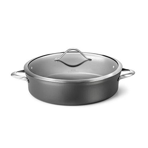 Calphalon Contemporary Hard-Anodized Aluminum Nonstick Cookware Sauteuse Pan 7-quart Black