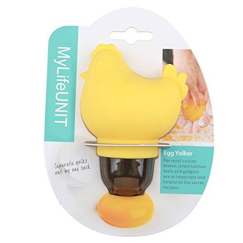 MyLifeUNIT Egg Yolk Separator Silicone White Yolk Egg Separator Squeeze Chicken Egg White Extractor Divider