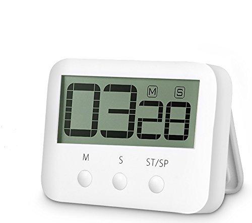Digital Countdown Timer - Countdown Clock Digital Kitchen Timer Big Digits Cooking Timer Alarm Clock Interval Timer Magnetic Countdown Timer Loud Alarm Stopwatch Cooking Timer Alarm