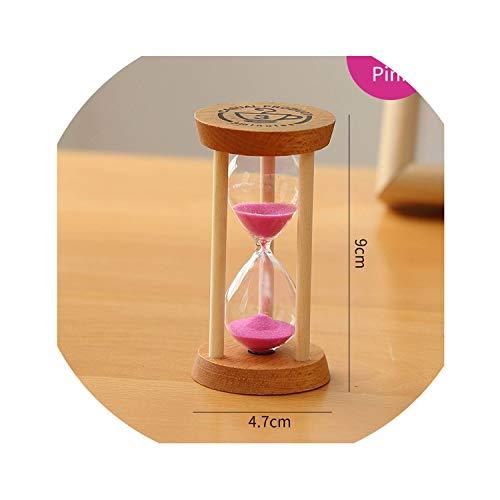 Sand Clock Watch Glass Timer Hourglass 3 Minutes Sandglass Mini 5 Minute Shower Timer Wedding Favors Home Decorationspink13min