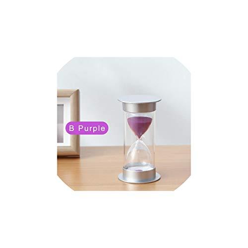 Sand Hourglass 1015203045 60 Minute Hourglass Timer Set Decorative Sand Clock Desktop Home Decoration Creative GiftB Purple20Min