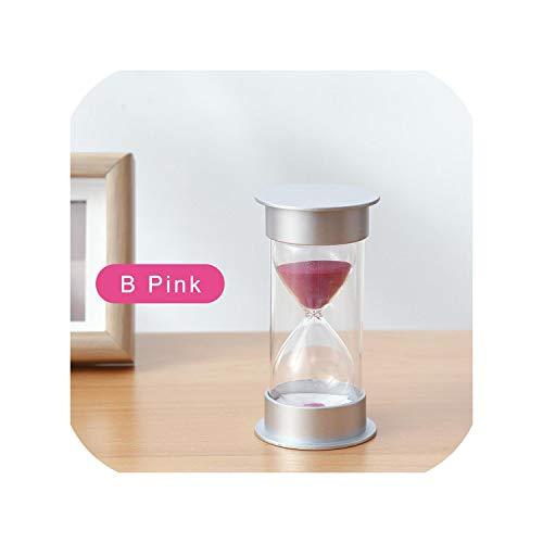 Sand Hourglass 1015203045 60 Minute Hourglass Timer Set Decorative Sand Clock Desktop Home Decoration Creative Gift Sl FgYgB Pink45Mins