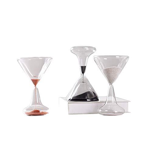 Tongboshi Time Hourglass Timer 1 Minute Creative Home Showroom Wineglass Hourglass Small Fresh Decoration Gift Ornaments Black White Orange Color  Black Size  1 Minute