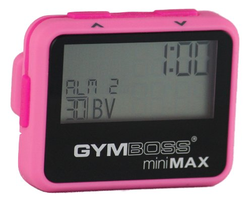 Gymboss miniMAX Interval Timer and Stopwatch - PINK  PINK SOFTCOAT