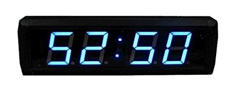 GOODRELIISH 23 4 Digits LED Clock Support Countdownup Timer in Minutes Seconds IR Remote Control Blue Color