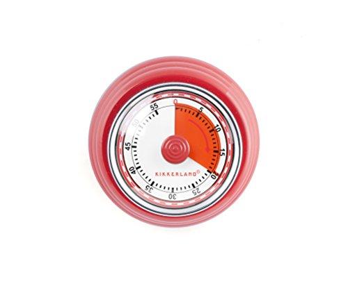 Kikkerland KT051-R Magnetic Kitchen Timer Red