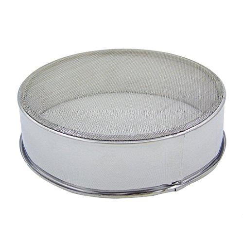 Grosun Round 59 inch Stainless Steel Flour Sieve with 60 Mesh Cake Baking Flour filter Flour Mesh Strainer