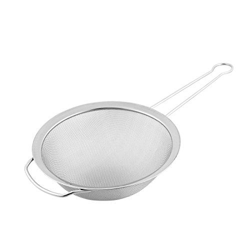 uxcell Stainless Steel Fine Oil Mesh Strainer Colander Flour Sieve 8 Inch Dia