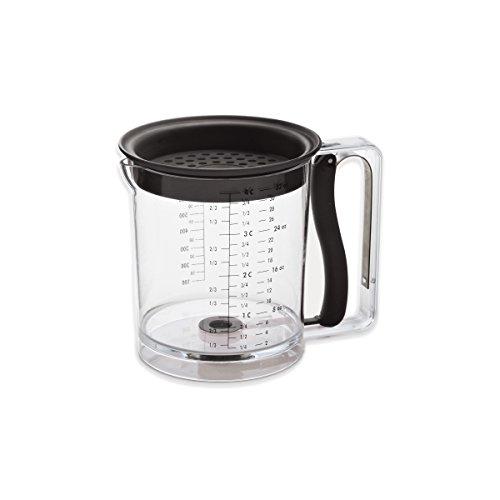 Amco 4-Cup Easy Release FatGravy Separator Black