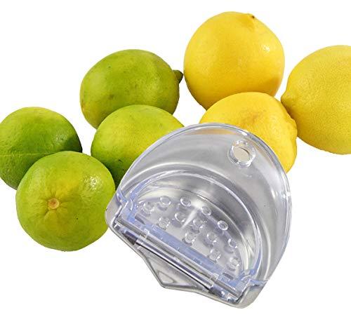 HOME-X Citrus Juicer Kitchen Accessories Handy Lemon and Lime Juice Extractor Lemon Squeezer-Aluminum and BPA Free Plastic-Dishwasher Safe- 35 D