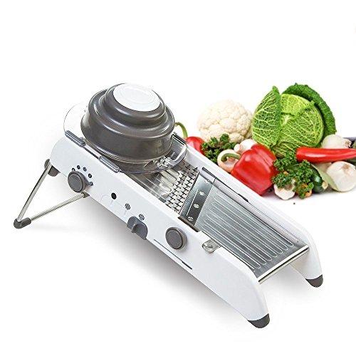 Pasutewel Adjustable Stainless Steel Mandoline SlicerManual Kitchen Cutter Shredder Julienne for Grinding Cutting Slicing Fruit Food Vegetables