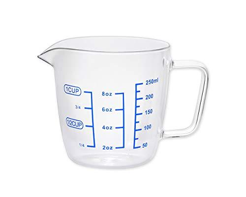 DSDISTINCTIVE STYLE Glass Measuring Cup 88oz Measuring Jug Multi-Purpose Measuring Mug for Liquid 1-Cup