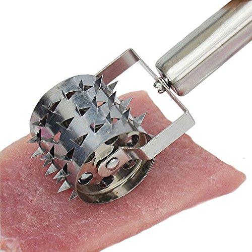 Dehub Stainless Steel Meat TenderizerKitchen Needle Meat Rolling Pounder Pork Beef Meat Tender Roller Punch Needle