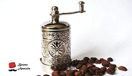 Turkish Handmade Grinder Spice Grinder Salt Grinder Pepper Mill 30 Silver