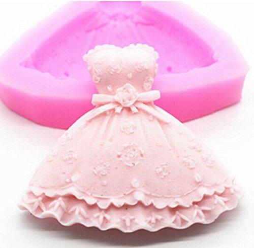 FD3129 Princess Dress Silicone Fondant Cake Mold Chocolate Baking Sugarcraft by goblinstrade