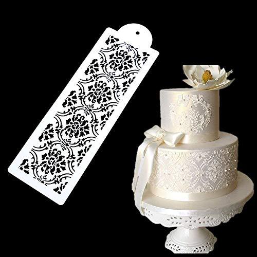 Youzpin 1 Pcs Wedding Cake Side Border Spraying Decoration StencilCake Lace Decoration MouldDIY Fondant Cake Sugar Sieve Decorating Tool
