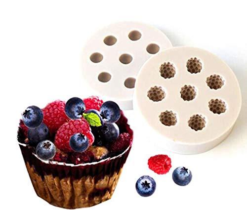 2pcs Blueberry Raspberry Fondant Silicone Mold Fondant Cake Decorative Molds Baking Cookie Tools Chocolate Cupcake Candy Making Mold