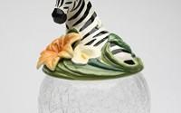 Cosmos-Gifts-10804-Zebra-Glass-Cookie-Jar-18.jpg