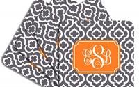 Personalized-Monogram-Coaster-Set-Charcoal-Orange-Quatrefoil-Trellis-Hardboard-30.jpg