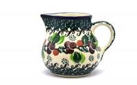Polish-Pottery-Creamer-4-oz-Burgundy-Berry-Green-40.jpg