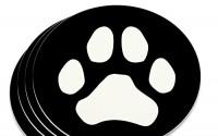 Paw-Print-Dog-Cat-White-on-Black-Novelty-Coaster-Set-16.jpg