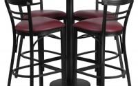 Flash-Furniture-24-Round-Walnut-Laminate-Table-Set-with-4-Ladder-Back-Metal-Barstools-Burgundy-Vinyl-Seat-1.jpg