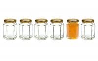 Healthcom-6-Pcs-2-8-Oz-Hexagonal-Canning-Jars-Wide-Mouth-Quart-Jam-Jars-Hexagon-Glass-Jars-Mason-Jars-Gold-Lid-85ml-11.jpg